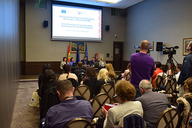 Kick-off event on the occasion of launching the 1st Call for Proposals Montenegro - Kosovo