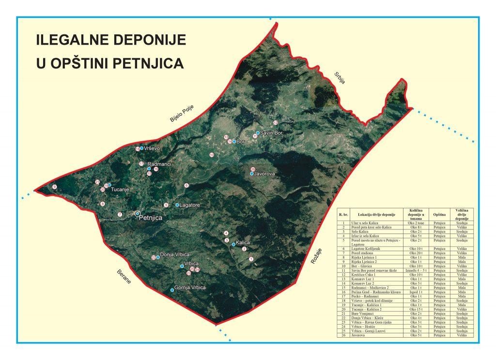 Harta e deponive e përfunduar